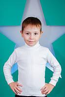 Детский белый гольф Рубчик Размер 86 - 146 см