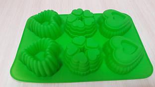 Силиконовая форма для выпечки кексов