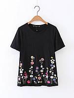 Блузка женская вышитая 404408 Блузки с вышивкой реплика Zara