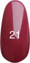 Гель-лак Kodi Professional № 21, Глубокий бордо с микроблеском, 8 мл