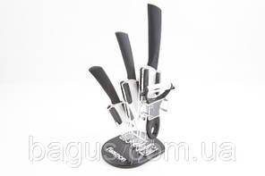 Набор ножей с керамическими лезвиями 5 пр./наб.на акриловой подставке Fissman Adria premium (KN-2652.5)