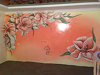 Роспись стен интерьеров и экстерьров