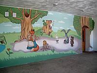 Роспись стен интерьера / экстерьера