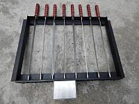 Електропривод для мангала на 10 шампурів - Рамка для шампуров с электроприводом