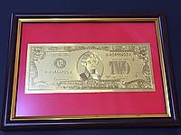 Денежная картина с банкнотой 2$ доллара