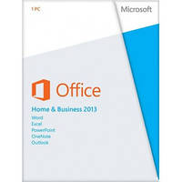 Microsoft Office 2013 Home and Business, 32/64-bit, Rus, DVD (T5D-01761) карточка активации