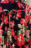 """Женский велюровый турецкий костюм """"EZE"""" со стразами ; разм 50,52,54,56 , фото 3"""