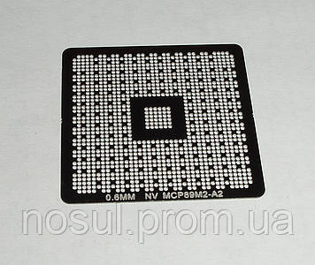 BGA шаблоны Nvidia 0.6 mm NV MCP89M2-A2 трафареты для реболла реболинг набор восстановление пайка ремонт прямо