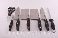 Набор ножей из нержавеющей стали 8пр./наб. на деревянной подставке Fissman Festival (KN-2623.8)