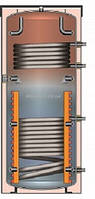 Буферная ёмкость для отопления Meibes SPSX-2G 1100 (с двумя гладкотрубными т/о) (без изоляции)