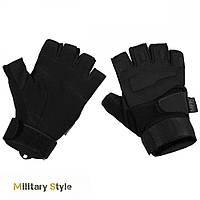Перчатки тактические без пальцев Protect (Black)