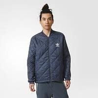 Куртка мужская Quilted Superstar Utility Blue F16 AY9143 адидас