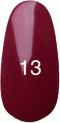 Гель-лак Kodi Professional № 13, Темная фуксия, эмаль, 8 мл