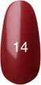 Гель-лак Kodi Professional № 14, Классическое бордо с перламутром, 8 мл