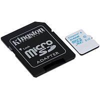 Карта памяти MicroSDXC 64GB UHS-I/U3 Class 10 Kingston Action Camera R90/W45MB/s + SD-adapter (SDCAC/64GB)