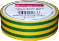Изолента желто-зеленая 10м