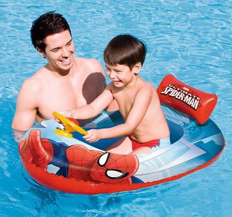 """Детский надувной плотик """"Спайдермен"""" BestWay 98009, фото 2"""