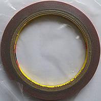 Скотч Полиуретановый 3M двухсторонний 5мм, длина 3 метра, толщина 0.9 мм, red (красный)