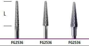 Зуботехнические фрезы с конусным резцом для обработки титана  (для фрезерования)