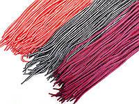 Шнурки для обуви (100см) круглые, разноцветные (упаковка 36пар, Ø 6мм)