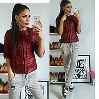 Куртка женская, модель 201 марсала (бордо) 48