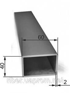Прямоугольная труба 60х40х2 мм погонный метр