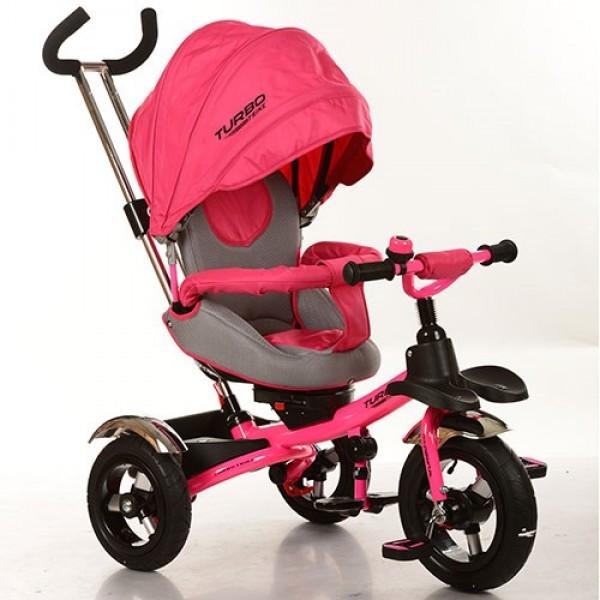 Велосипед детский трехколесный Turbo Trike M 3193-3 розовый со звонком KK - Svitparfum.com - мир Вашего стиля в Киеве