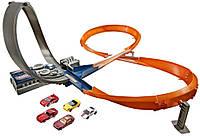 Трек Хот Вилс восьмерка + 6 машинок / Hot Wheels Exclusive Figure 8 Raceway with 6 Cars