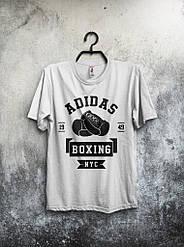 Мужская футболка Adidas Boxing (белая) реплика