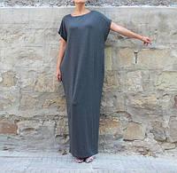 Платье макси оверсайз серое, фото 1