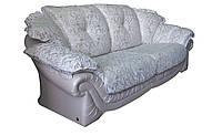 """Элегантный кожаный диван """"Loretta"""" (Лоретта) Трехместный (230 см), Американская раскладушка, ткань, Современный"""