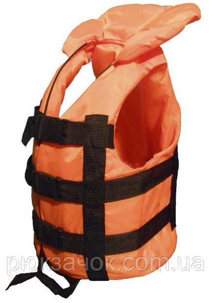 Спасательный жилет оранжевый от 30 кг. до 50 кг. , водный страховочный жилет