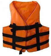 Спасательный жилет оранжевый от 50 кг. до 70 кг. , водный страховочный жилет