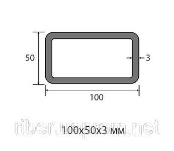 Труба прямоугольная 100х50х3 мм