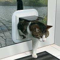 Trixie TX-38631 дверца 4-Way Cat Flap специально для стекла (27 × 27 см