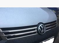 Накладка на решетку Volkswagen CADDY 2010-... (Фольксваген кадди), нерж. (2010>)