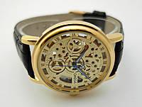 Мужские часы в стиле Omega - skeleton, механика с автозаводом, стильный дизайн, фото 1