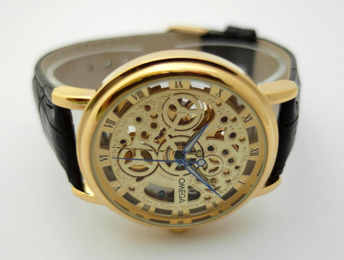 d09daec61e10b3 Мужские часы Omega - skeleton, механика с автозаводом, стильный дизайн -  4asovoy в Киеве