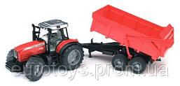 Игрушка Bruder Трактор Massey Ferguson 7480 c прицепом 1:16 (02045)