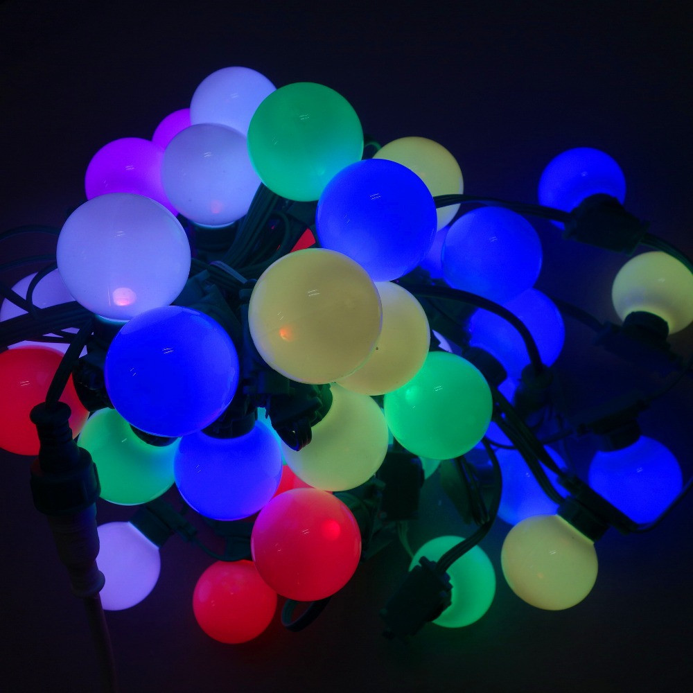 Гирлянда Белт-лайт (belt-light)LED RGB, 20 м, 50 RGB шариков, влагостойкая для наружного п