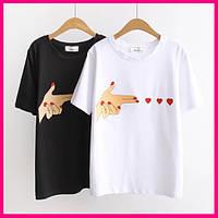 Стильная футболка с сердцами, фото 1