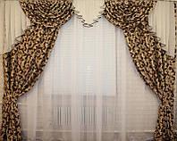 Богатый комплект штор с ламбрекеном, фото 1