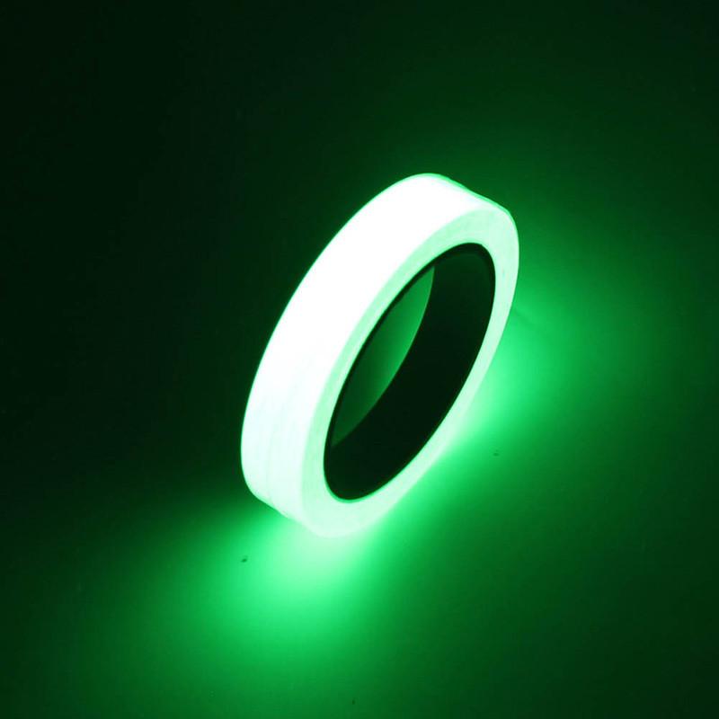 Светящийся скотч в темноте 10м.! Флуоресцентная самоклеющаяся лента!