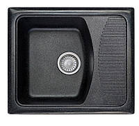 Черная гранитная мойка с крылом 58 см COSH 420 Польша