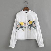 Белая рубашка с вышивкой, фото 1