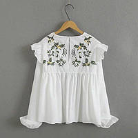 Белая блуза с рюшами, фото 1