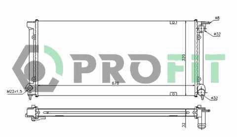 Радиатор охлаждения Opel Kadett E 84-91 Profit