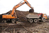 Разработка котлована экскаватором Выемка, перемещение и вывоз грунта