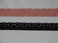 Узкое кружево-016,ширина 2.5см,цвет коралловый