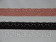 Узкое кружево-338,ширина 2.5см,цвет коричневый